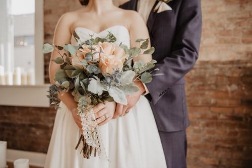 Bryd med det traditionelle bryllup